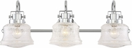Savoy House 8-285-3-11 Mckay Contemporary Polished Chrome 3-Light Bathroom Light Sconce