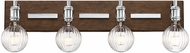 Savoy House 8-3405-4-73 Barfield Contemporary Polished Nickel w/ Wood accents 4-Light Vanity Lighting Fixture