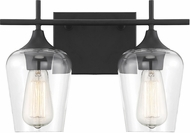 Savoy House 8-4030-2-BK Octave Modern Black 2-Light Bathroom Vanity Light Fixture