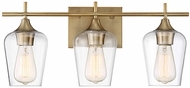 Savoy House 8-4030-3-322 Octave Modern Warm Brass 3-Light Bathroom Light