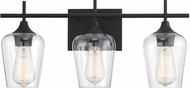 Savoy House 8-4030-3-BK Octave Contemporary Black 3-Light Bathroom Wall Sconce
