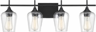 Savoy House 8-4030-4-BK Octave Modern Black 4-Light Bath Wall Sconce