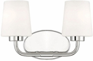 Savoy House 8-4090-2-109 Capra Polished Nickel 2-Light Bath Wall Sconce