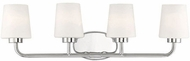 Savoy House 8-4090-4-109 Capra Polished Nickel 4-Light Bathroom Lighting Sconce