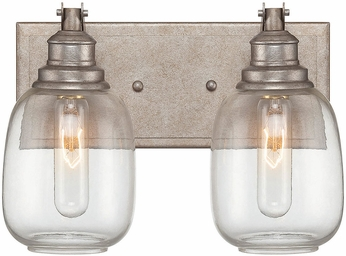 Savoy House 8-4334-2-27 Orsay Modern Industrial Steel 2-Light Bathroom Lighting Sconce