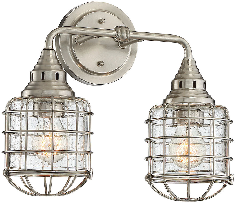 Savoy House 8-575-2-SN Connell Contemporary Satin Nickel 2-Light ...