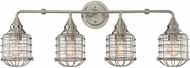 Savoy House 8-575-4-SN Connell Contemporary Satin Nickel 4-Light Lighting For Bathroom