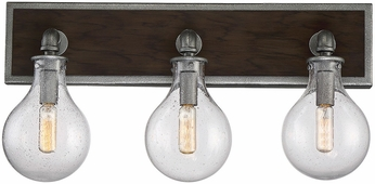 Savoy House 8-6073-3-90 Dansk Modern Galvanized Metal 3-Light Bath Lighting Fixture