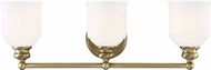 Savoy House 8-6836-3-322 Melrose Warm Brass 3-Light Bathroom Lighting Sconce