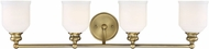 Savoy House 8-6836-4-322 Melrose Warm Brass 4-Light Bathroom Sconce Lighting