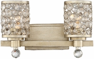 Savoy House 8-7015-2-100 Guilford Contemporary Aurora 2-Light Bath Lighting Sconce