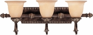 Savoy House 8-749-3-241 Grenada Traditional Moroccan Bronze 3-Light Bathroom Vanity Light