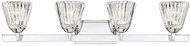 Savoy House 8-9020-4-11 Dresden Chrome 4-Light Bath Lighting Fixture