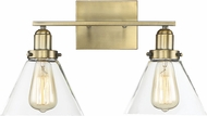 Savoy House 8-9130-2-322 Drake Modern Warm Brass 2-Light Lighting For Bathroom