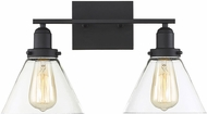 Savoy House 8-9130-2-BK Drake Contemporary Black 2-Light Bath Lighting