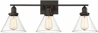 Savoy House 8-9130-3-13 Drake Contemporary English Bronze 3-Light Vanity Lighting Fixture