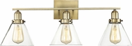 Savoy House 8-9130-3-322 Drake Modern Warm Brass 3-Light Bathroom Light