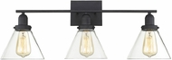Savoy House 8-9130-3-BK Drake Contemporary Black 3-Light Bathroom Lighting Fixture
