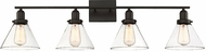 Savoy House 8-9130-4-13 Drake Contemporary English Bronze 4-Light Bathroom Wall Sconce