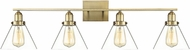 Savoy House 8-9130-4-322 Drake Modern Warm Brass 4-Light Vanity Lighting