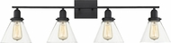 Savoy House 8-9130-4-BK Drake Contemporary Black 4-Light Vanity Light