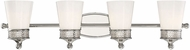 Savoy House 8-9240-4-109 Hammond Polished Nickel 4-Light Bathroom Wall Light Fixture