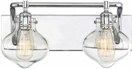 Savoy House 8-9400-2-11 Allman Modern Polished Chrome 2-Light Bathroom Lighting