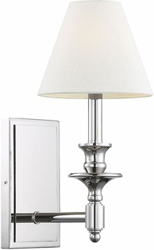 Savoy House 9-0700-1-109 Washburn Polished Nickel Lighting Sconce