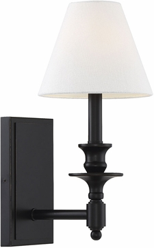Savoy House 9-0700-1-44 Washburn Matte Black Wall Sconce Lighting