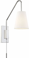 Savoy House 9-0900CP-1-109 Owen Contemporary Polished Nickel Wall Swing Arm Lamp