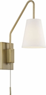 Savoy House 9-0900CP-1-322 Owen Contemporary Warm Brass Wall Swing Arm Light