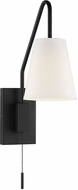 Savoy House 9-0900CP-1-89 Owen Matte Black Wall Swing Arm Lamp