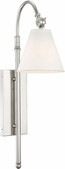 Savoy House 9-1201-1-109 Rutland Polished Nickel Lighting Sconce