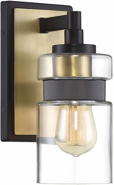 Savoy House 9-17003-1-77 Colfax Modern Bronze w Brass Accents Wall Mounted Lamp