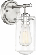 Savoy House 9-2262-1-144 Clayton Contemporary Satin Nickel with Chrome Accents Wall Mounted Lamp