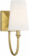 Savoy House 9-2542-1-322 Cameron Warm Brass Wall Sconce Lighting