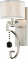 Savoy House 9-256-1-307 Rosendal Silver Sparkle Wall Sconce