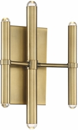 Savoy House 9-2602-6-322 Barnum Contemporary Warm Brass LED Wall Lighting Fixture