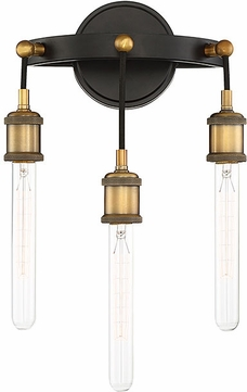 Savoy House 9-2900-3-51 Campbell Vintage Black with Warm Brass Light Sconce