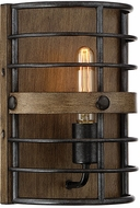 Savoy House 9-3923-1-120 Oakhill Modern Provincial Wood with Ebony Wall Lighting Fixture