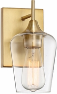 Savoy House 9-4030-1-322 Octave Contemporary Warm Brass Sconce Lighting