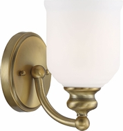 Savoy House 9-6836-1-322 Melrose Warm Brass Wall Light Fixture