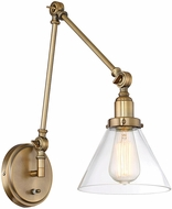 Savoy House 9-9131CP-1-322 Drake Modern Warm Brass Wall Swing Arm Light