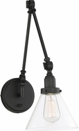 Savoy House 9-9131CP-1-89 Drake Matte Black Swing Arm Wall Lamp