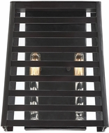 Savoy House 9-9174-2-108 Lakewood Modern Bronze w/ Stainless Steel Indoor / Outdoor Lamp Sconce