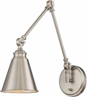 Savoy House 9-961CP-1-109 Morland Polished Nickel Wall Swing Arm Lamp