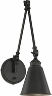 Savoy House 9-961CP-1-89 Morland Traditional Matte Black Swing Arm Wall Lamp