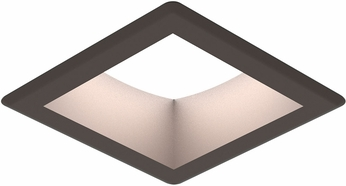 Seagull 14301S-171 Traverse Unlimited Modern Painted Antique Bronze LED Interior / Exterior Recessed Light