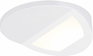 Seagull 14936RD-15 Traverse Aubrey Modern White LED Wall Wash Flush Mount Lighting Fixture