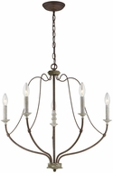 Seagull 3000405-748 Nadia Traditional Distressed White Wood Chandelier Light